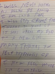 Letter from 71 yr old man in prison